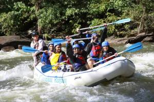 Students and Staff Rafting