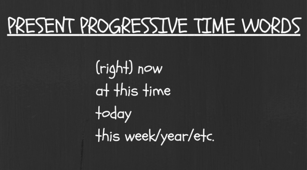pres-prog-time-words